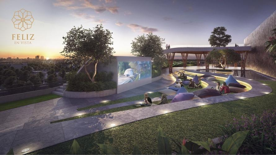 Rạp chiếu phim ngoài trời dự án căn hộ Feliz En Vista